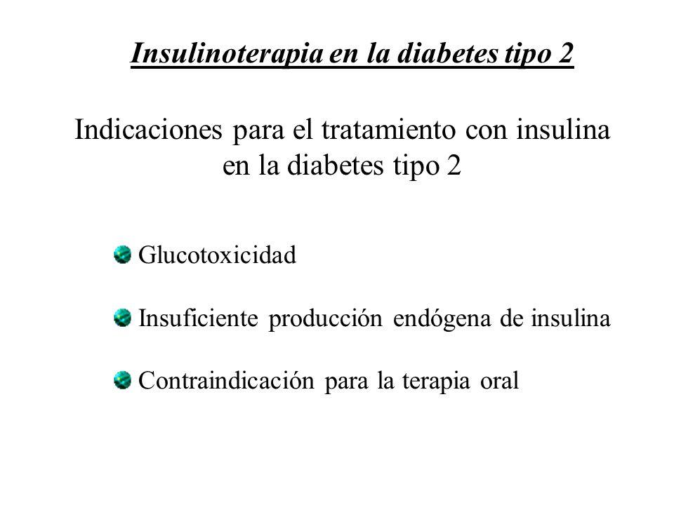 Indicaciones para el tratamiento con insulina