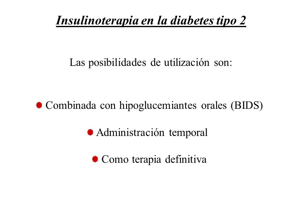 Insulinoterapia en la diabetes tipo 2