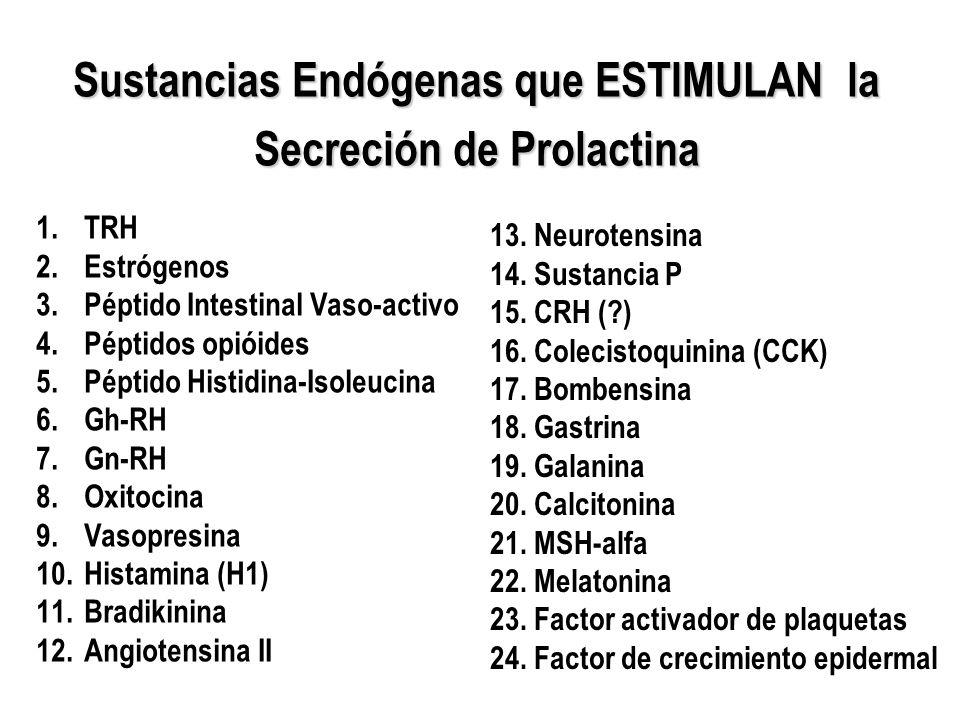 Sustancias Endógenas que ESTIMULAN la Secreción de Prolactina