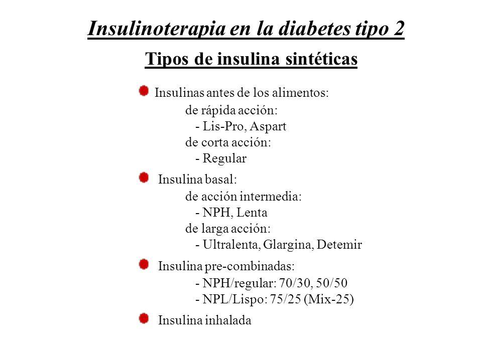 Tipos de insulina sintéticas