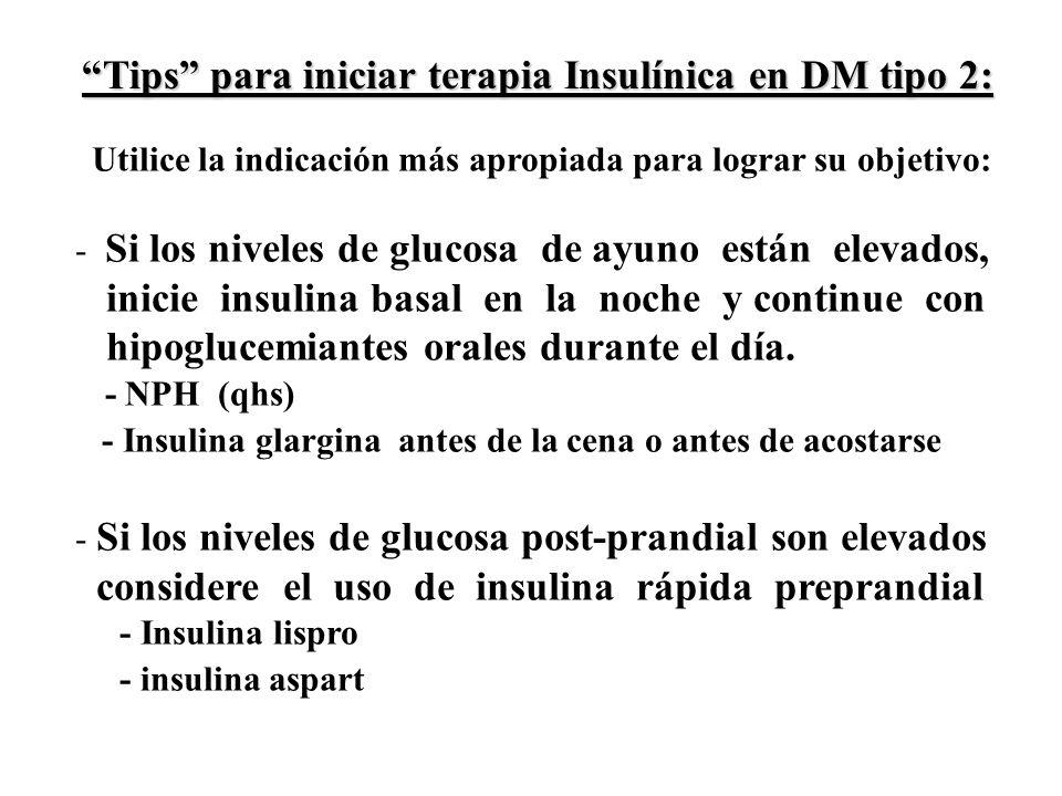 Tips para iniciar terapia Insulínica en DM tipo 2: