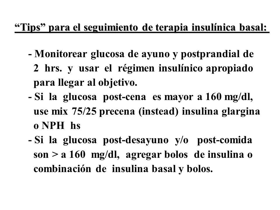 Tips para el seguimiento de terapia insulínica basal:
