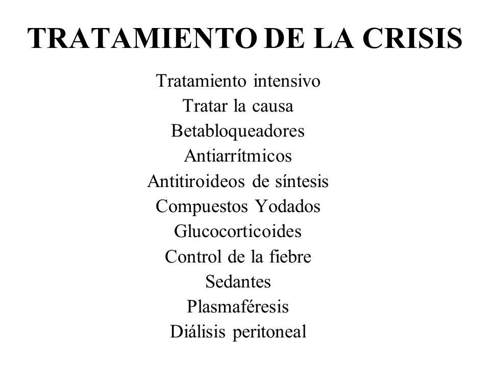 TRATAMIENTO DE LA CRISIS