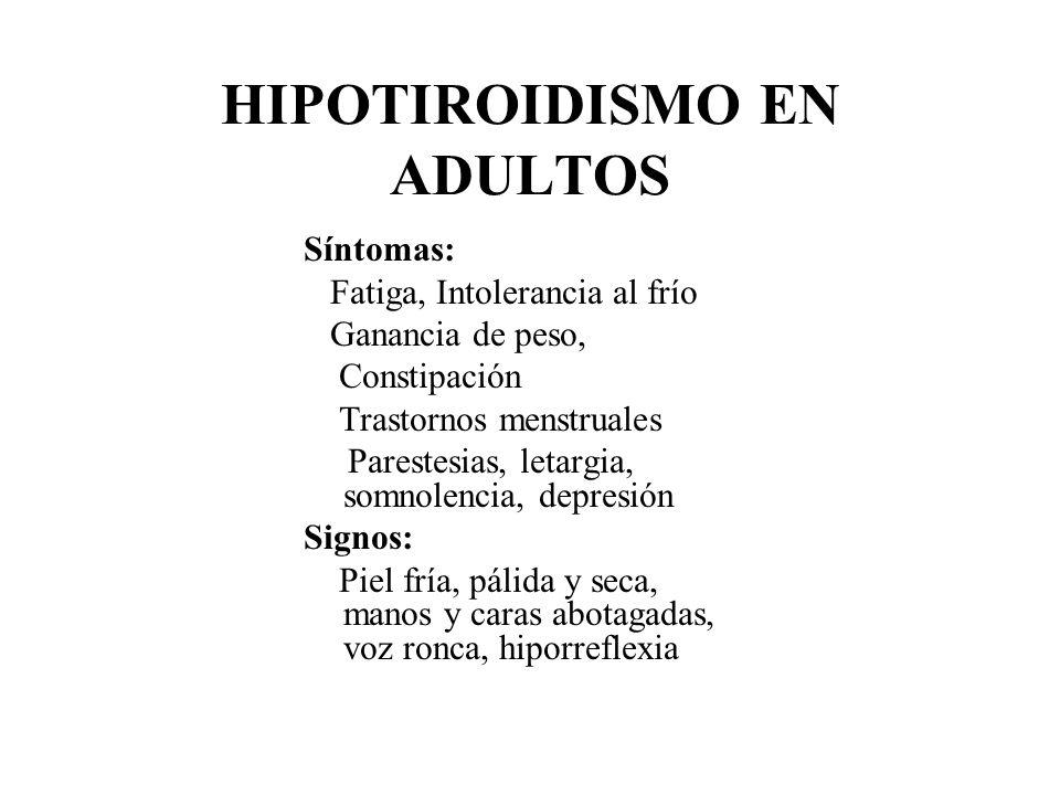HIPOTIROIDISMO EN ADULTOS