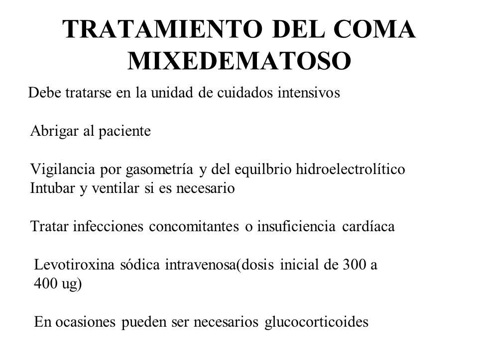 TRATAMIENTO DEL COMA MIXEDEMATOSO