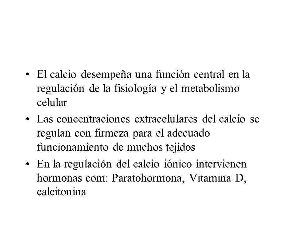 El calcio desempeña una función central en la regulación de la fisiología y el metabolismo celular