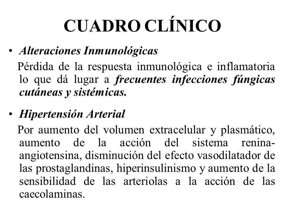 CUADRO CLÍNICO Alteraciones Inmunológicas