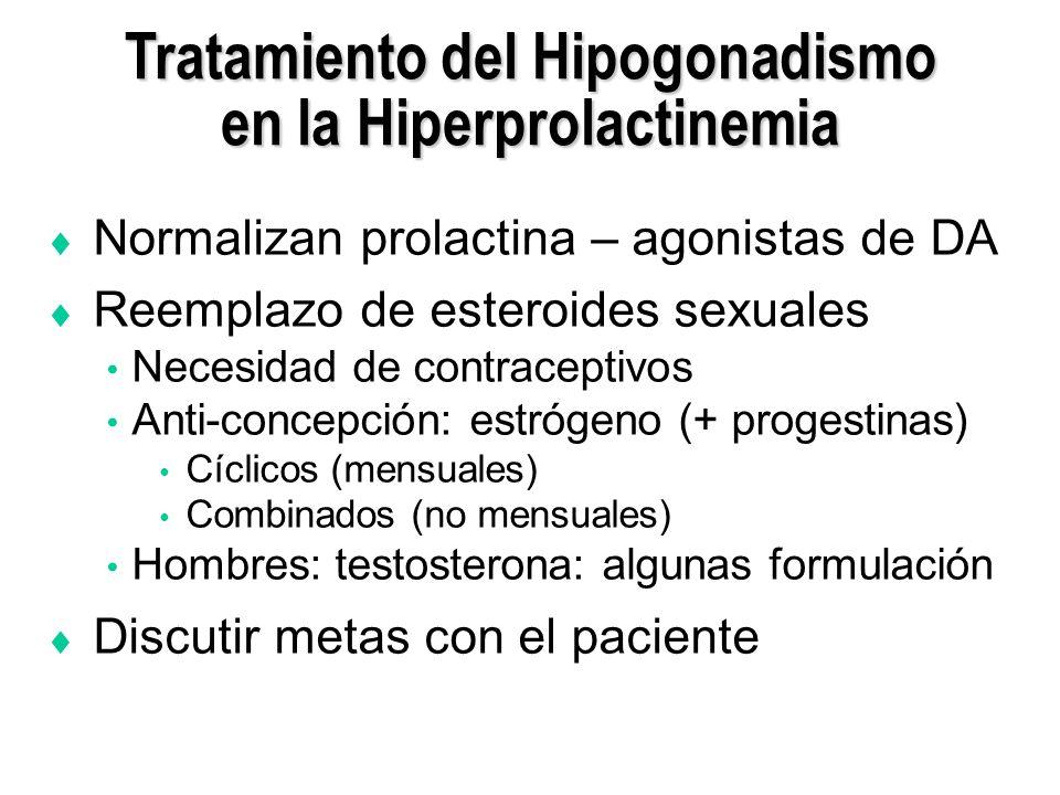 Tratamiento del Hipogonadismo en la Hiperprolactinemia