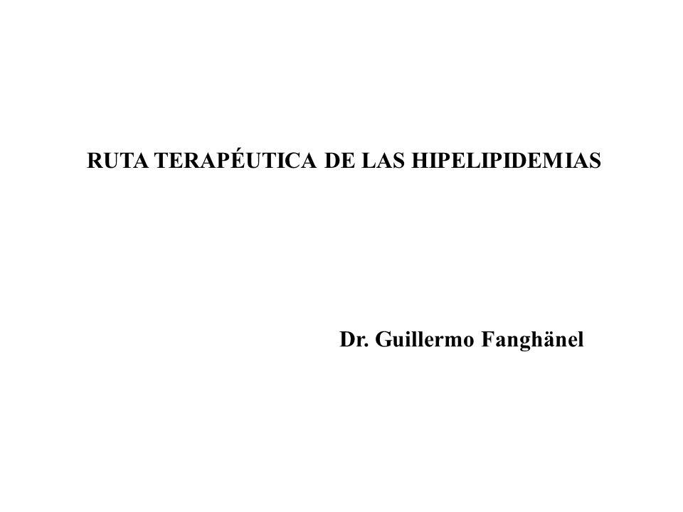 RUTA TERAPÉUTICA DE LAS HIPELIPIDEMIAS
