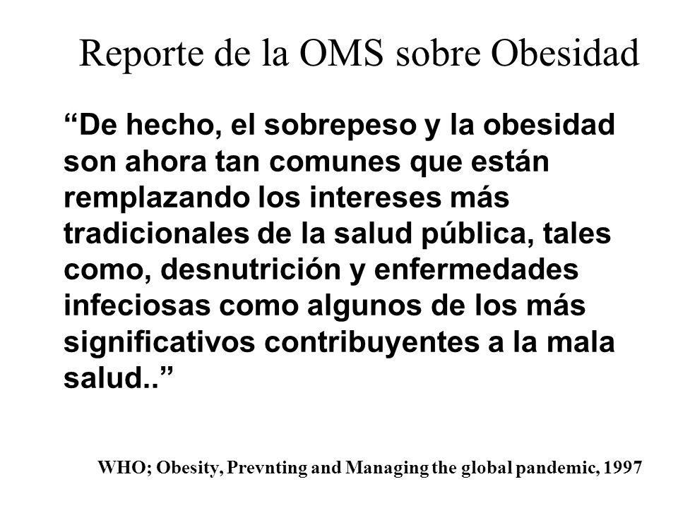 Reporte de la OMS sobre Obesidad