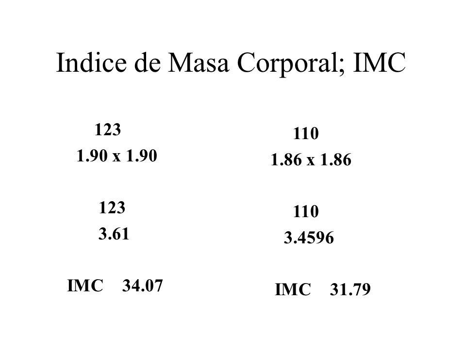 Indice de Masa Corporal; IMC