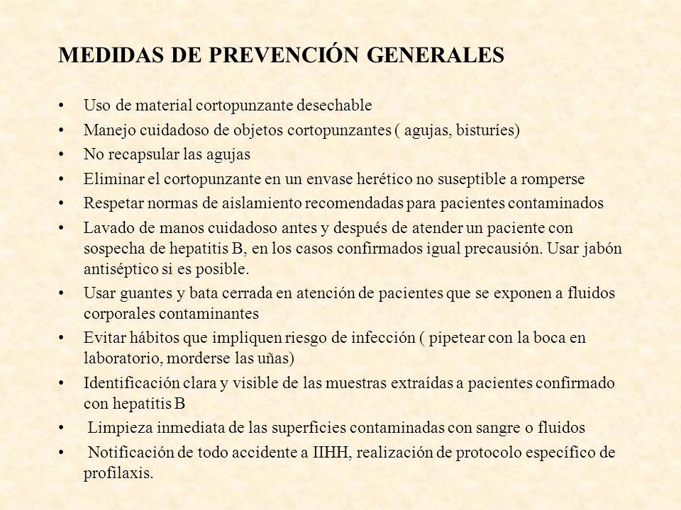 MEDIDAS DE PREVENCIÓN GENERALES