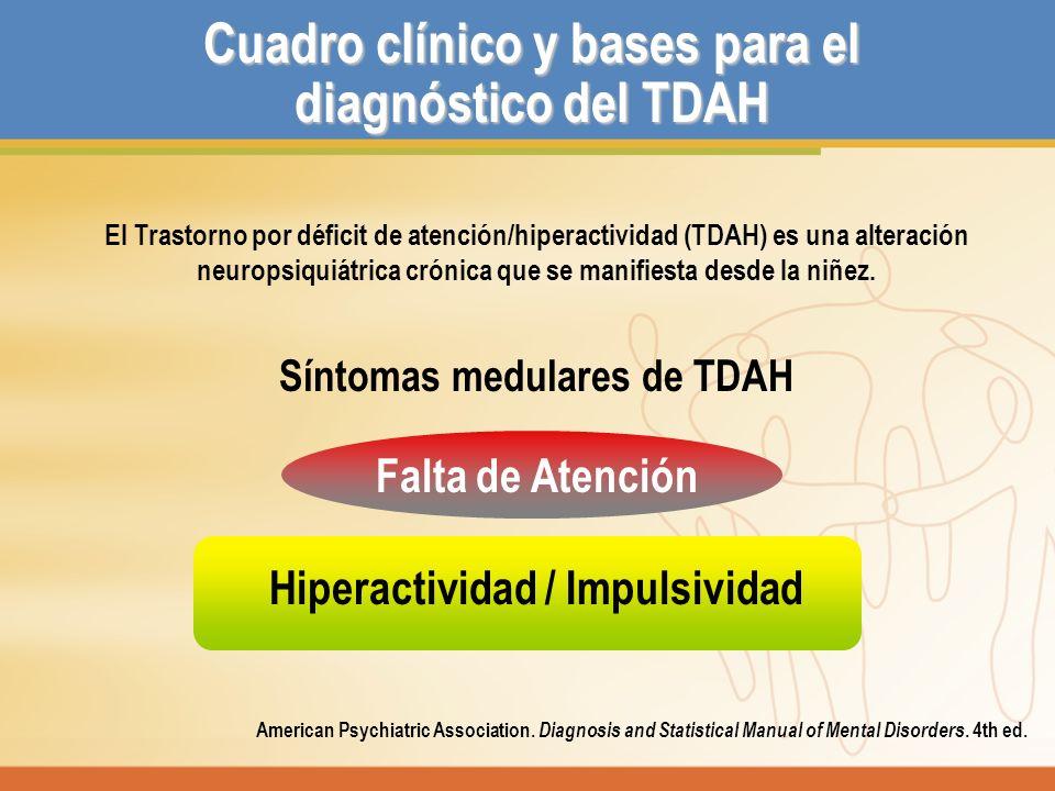 Cuadro clínico y bases para el diagnóstico del TDAH