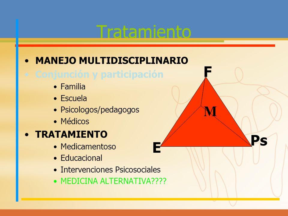 Tratamiento F M Ps E MANEJO MULTIDISCIPLINARIO