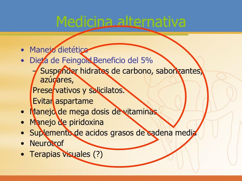 Medicina alternativa Manejo dietético