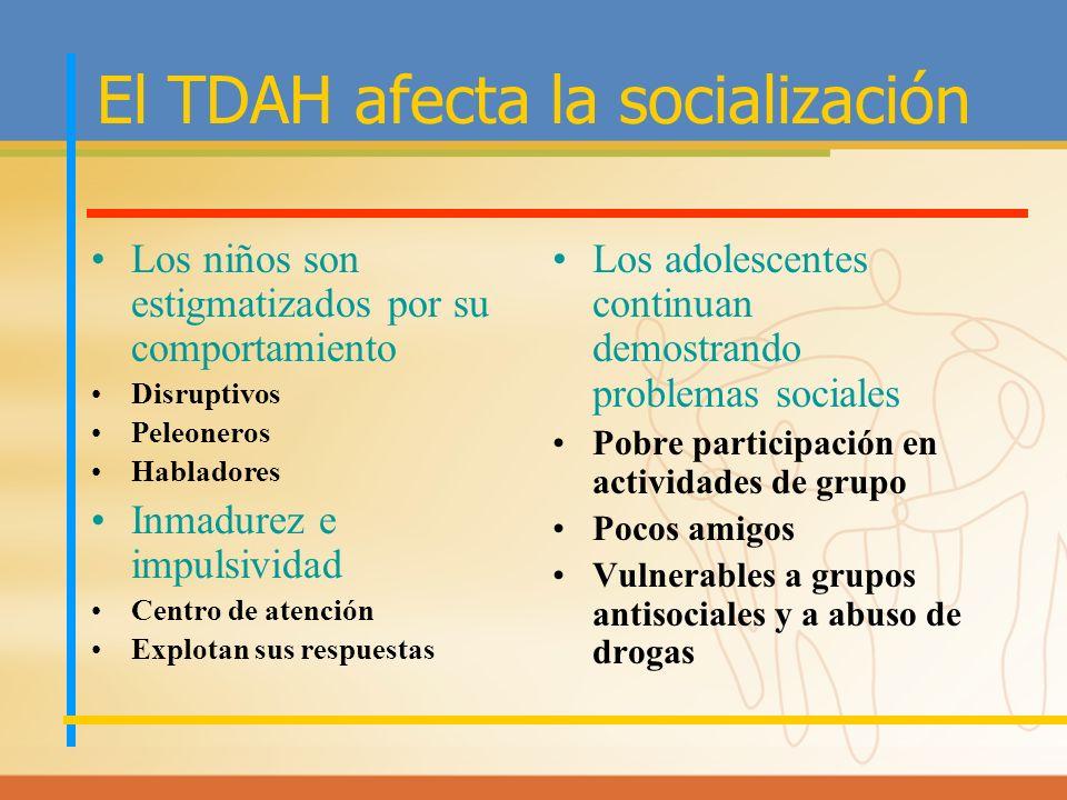 El TDAH afecta la socialización