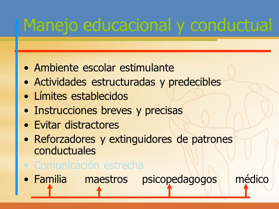 Manejo educacional y conductual