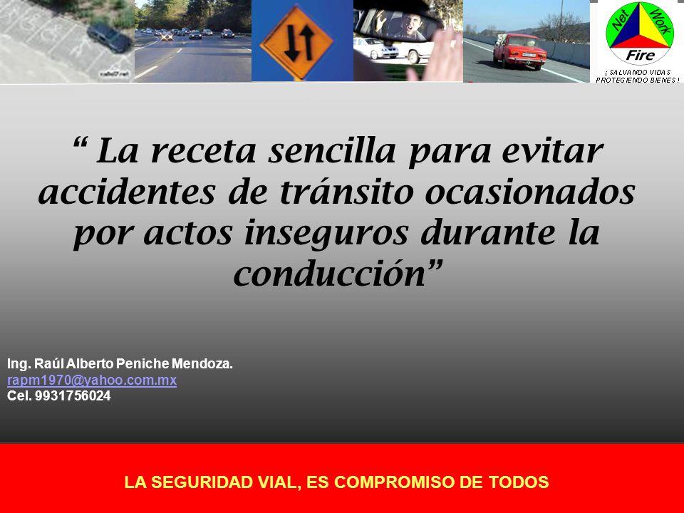 La receta sencilla para evitar accidentes de tránsito ocasionados por actos inseguros durante la conducción