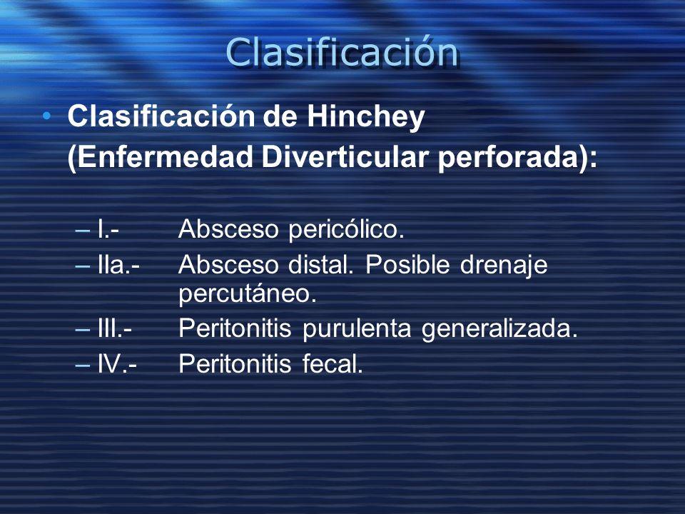 Clasificación Clasificación de Hinchey