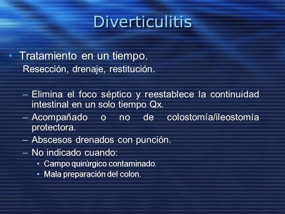 Diverticulitis Tratamiento en un tiempo.
