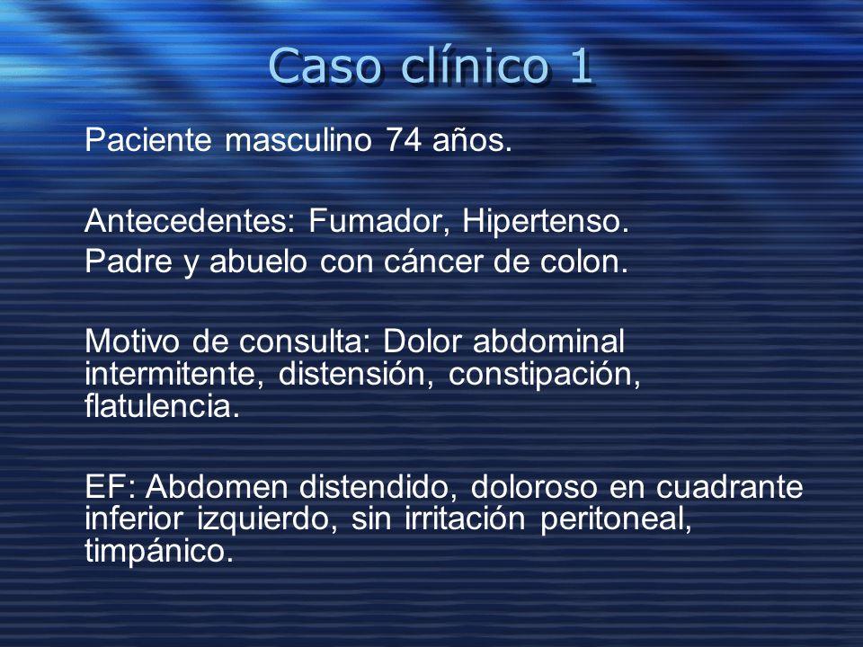 Caso clínico 1 Paciente masculino 74 años.
