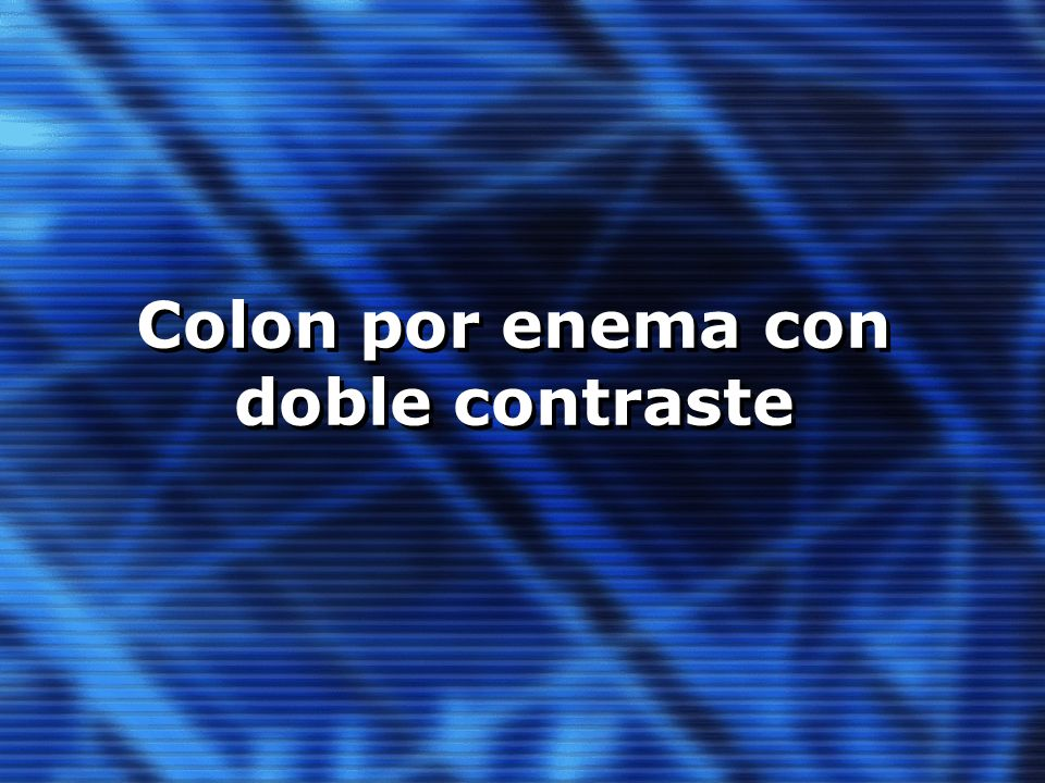 Colon por enema con doble contraste