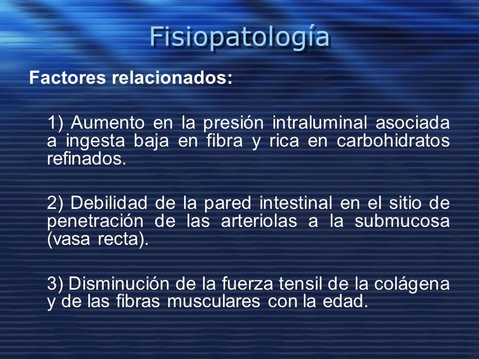 Fisiopatología Factores relacionados: