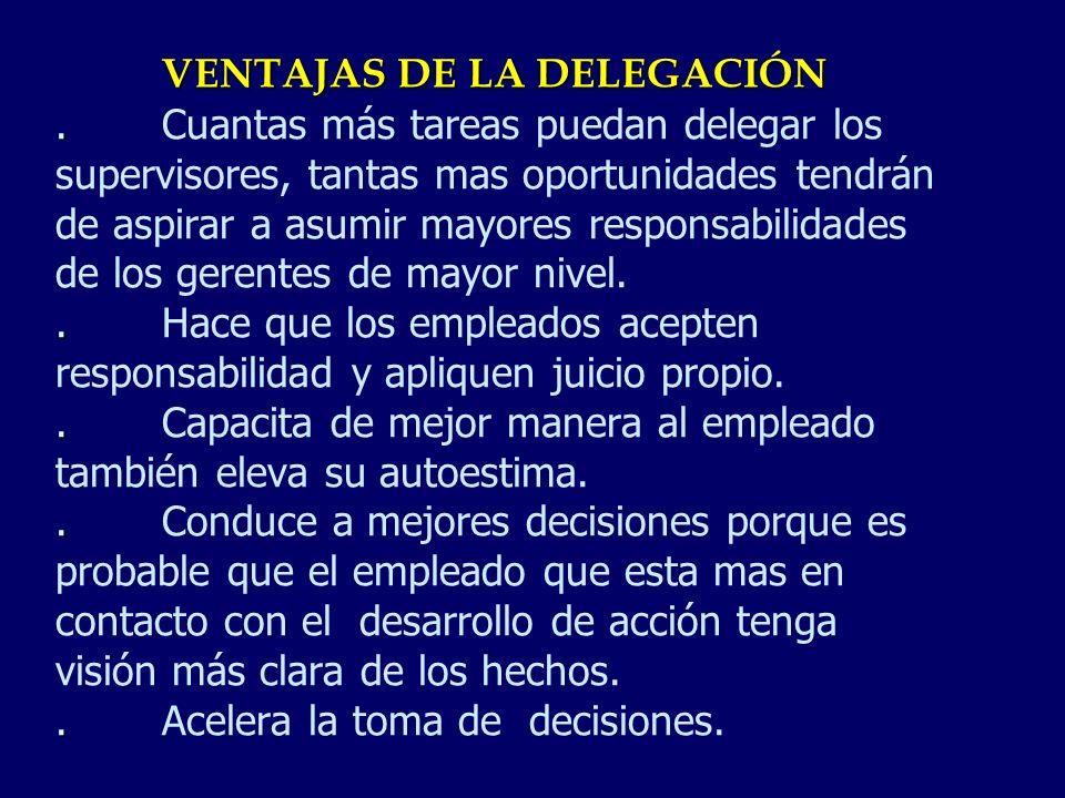 VENTAJAS DE LA DELEGACIÓN