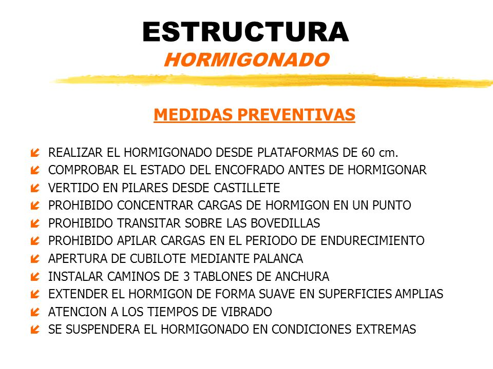 ESTRUCTURA HORMIGONADO