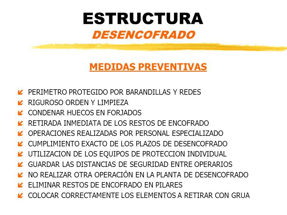 ESTRUCTURA DESENCOFRADO