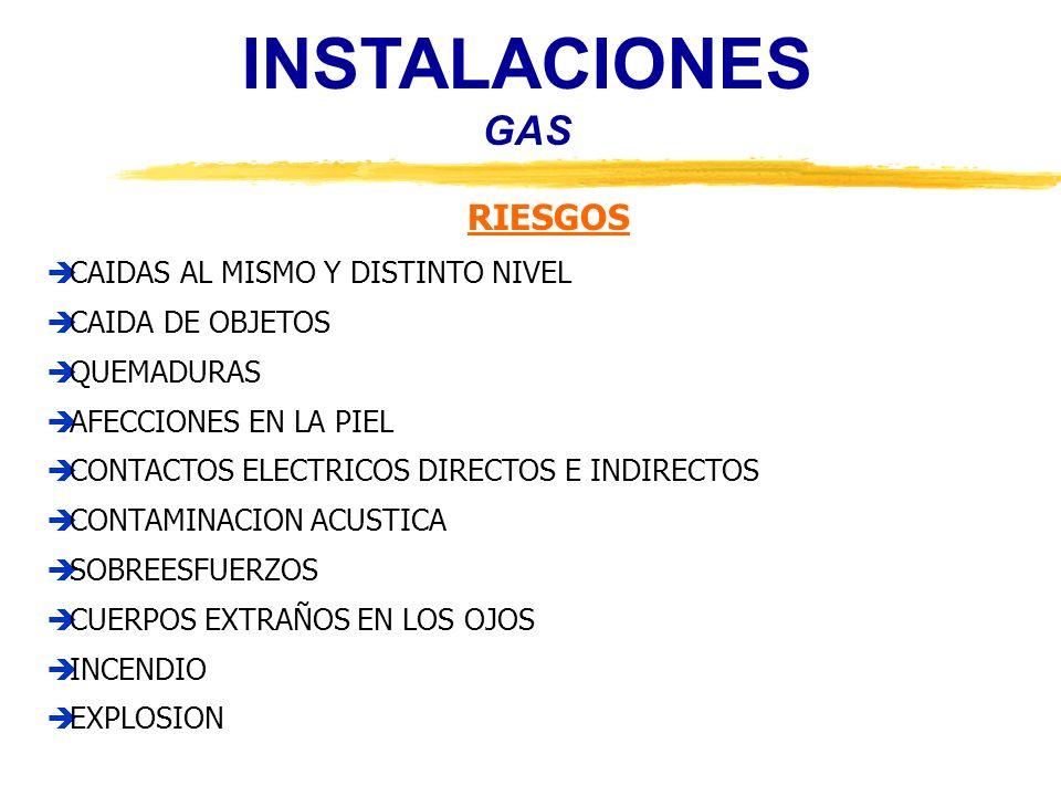 INSTALACIONES GAS RIESGOS CAIDAS AL MISMO Y DISTINTO NIVEL