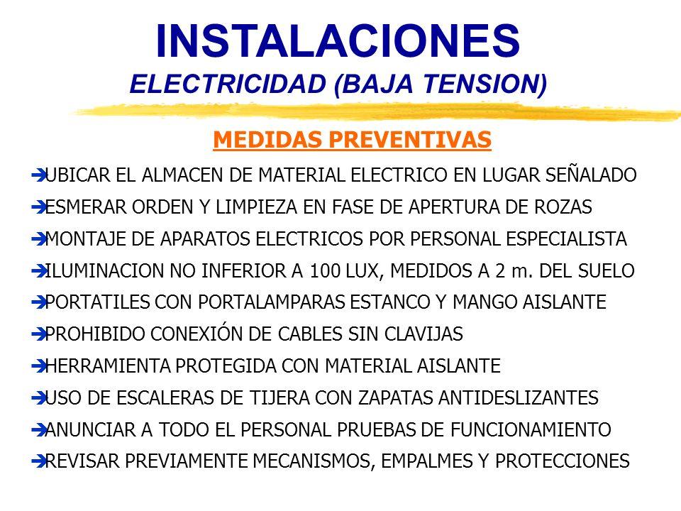 INSTALACIONES ELECTRICIDAD (BAJA TENSION)