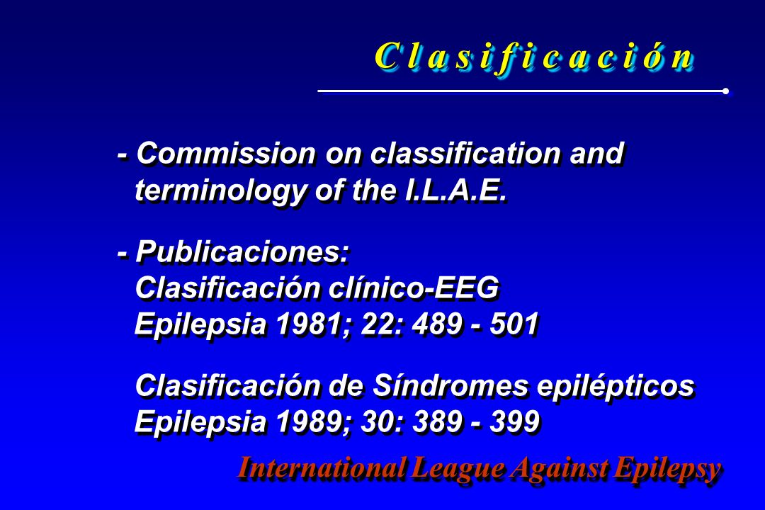 C l a s i f i c a c i ó n - Commission on classification and