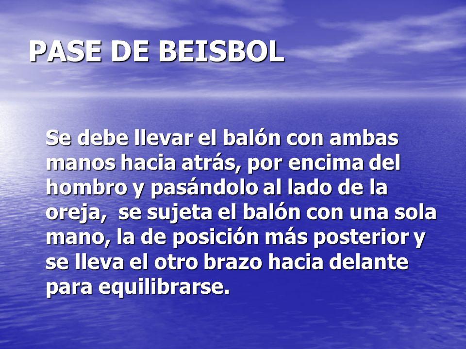 PASE DE BEISBOL