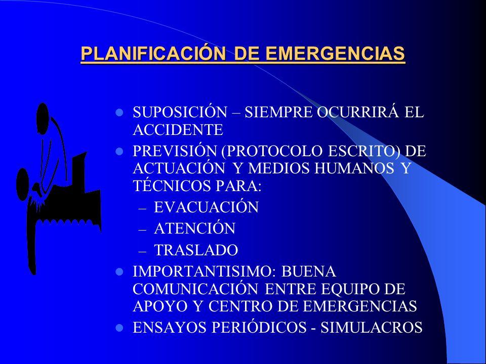 PLANIFICACIÓN DE EMERGENCIAS