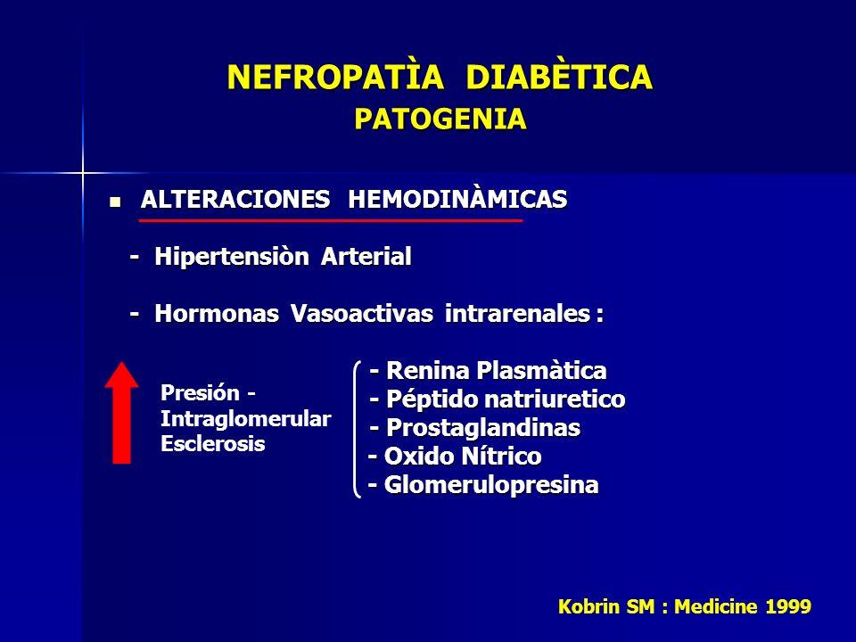 NEFROPATÌA DIABÈTICA PATOGENIA