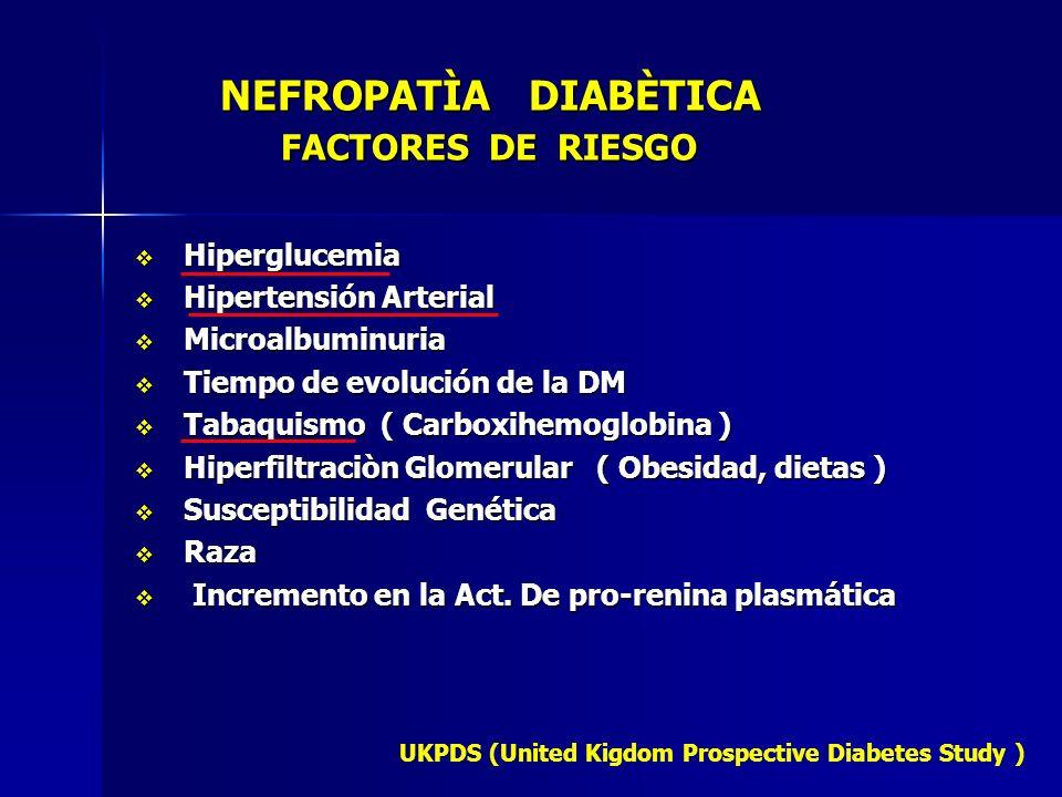 NEFROPATÌA DIABÈTICA FACTORES DE RIESGO