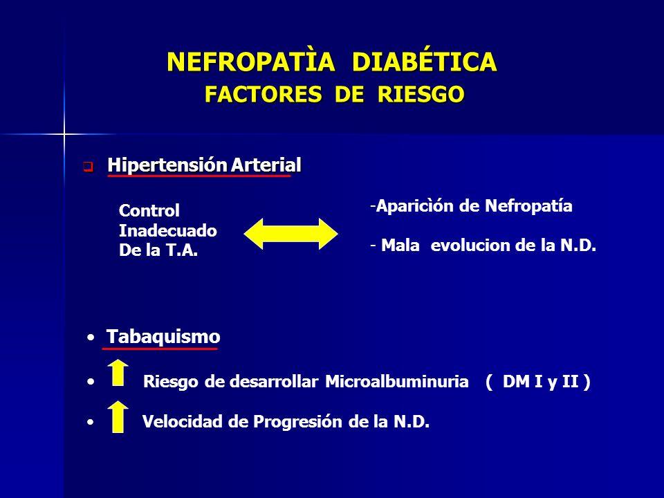 NEFROPATÌA DIABÉTICA FACTORES DE RIESGO