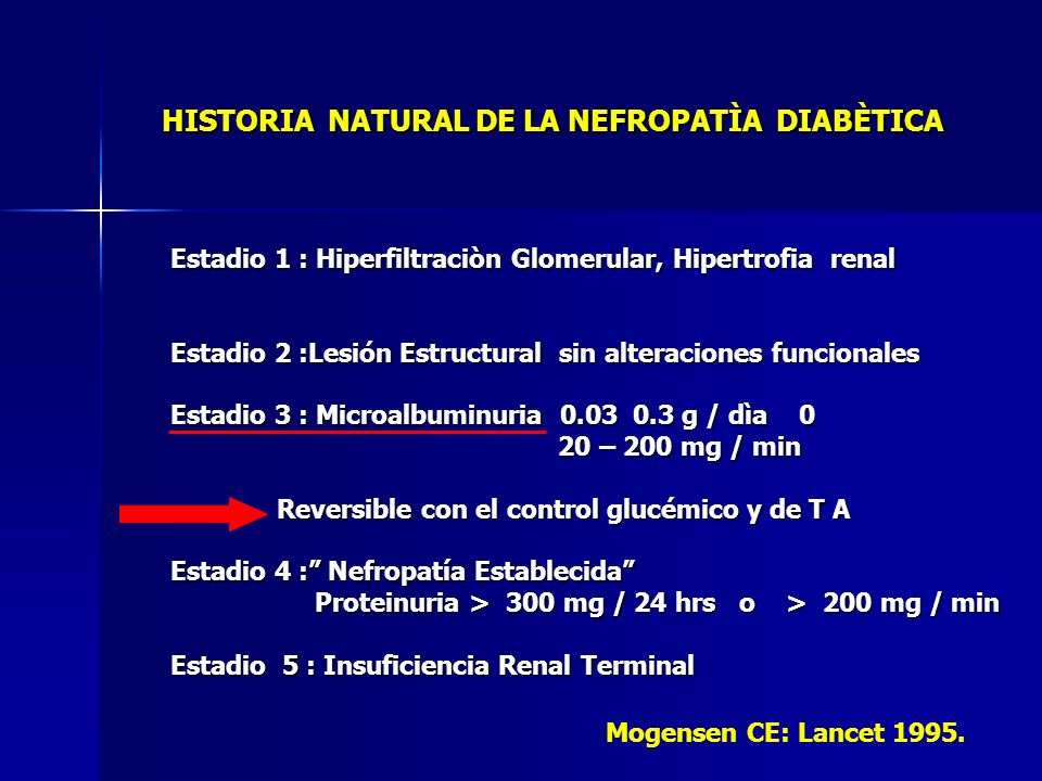 HISTORIA NATURAL DE LA NEFROPATÌA DIABÈTICA