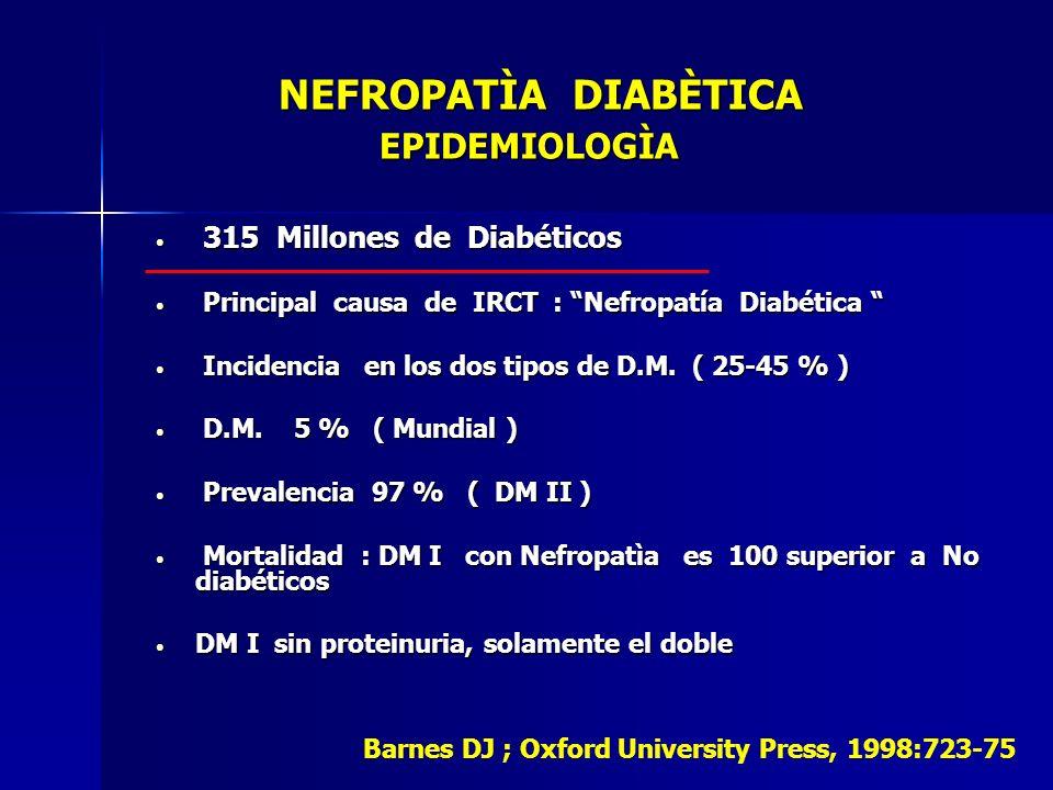 NEFROPATÌA DIABÈTICA EPIDEMIOLOGÌA