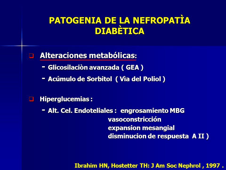 PATOGENIA DE LA NEFROPATÌA DIABÈTICA