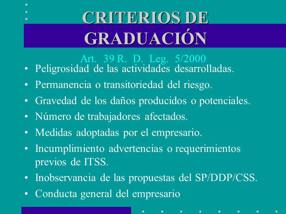 CRITERIOS DE GRADUACIÓN