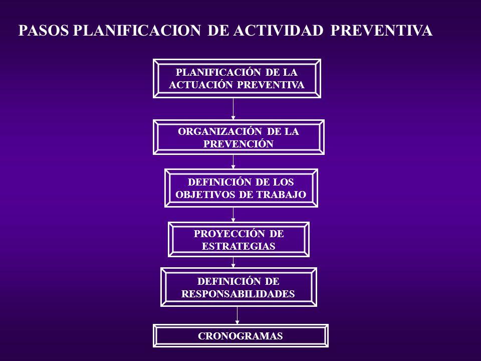 PASOS PLANIFICACION DE ACTIVIDAD PREVENTIVA