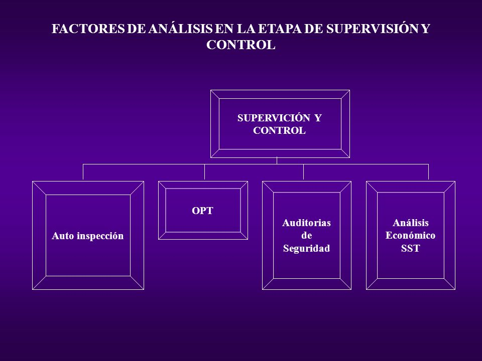 FACTORES DE ANÁLISIS EN LA ETAPA DE SUPERVISIÓN Y CONTROL