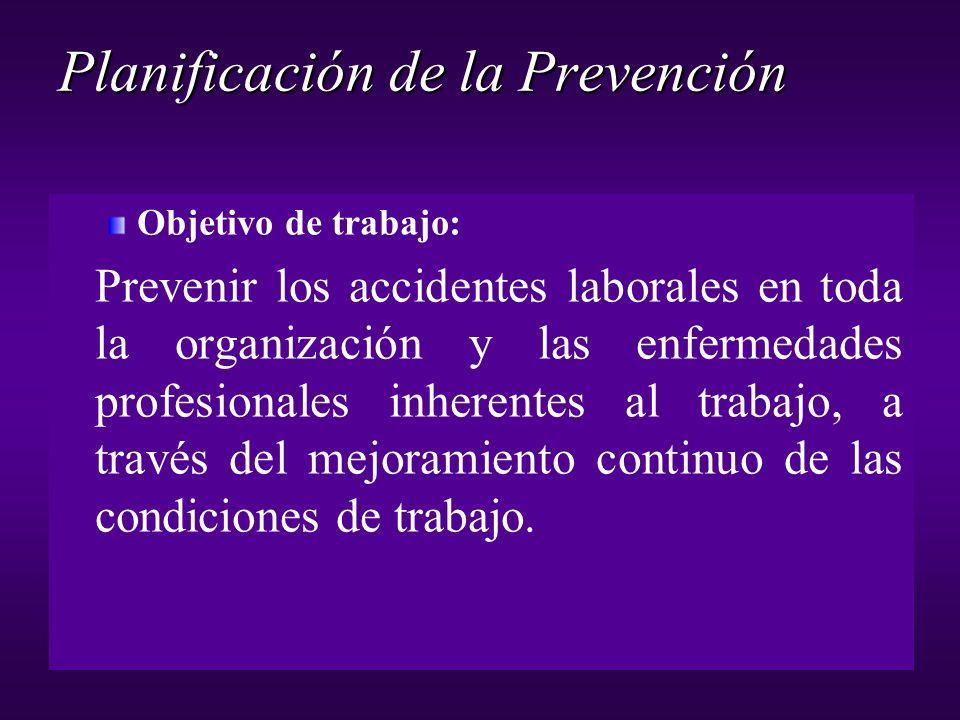 Planificación de la Prevención