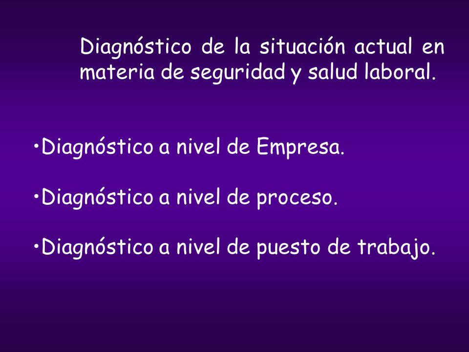 Diagnóstico de la situación actual en materia de seguridad y salud laboral.