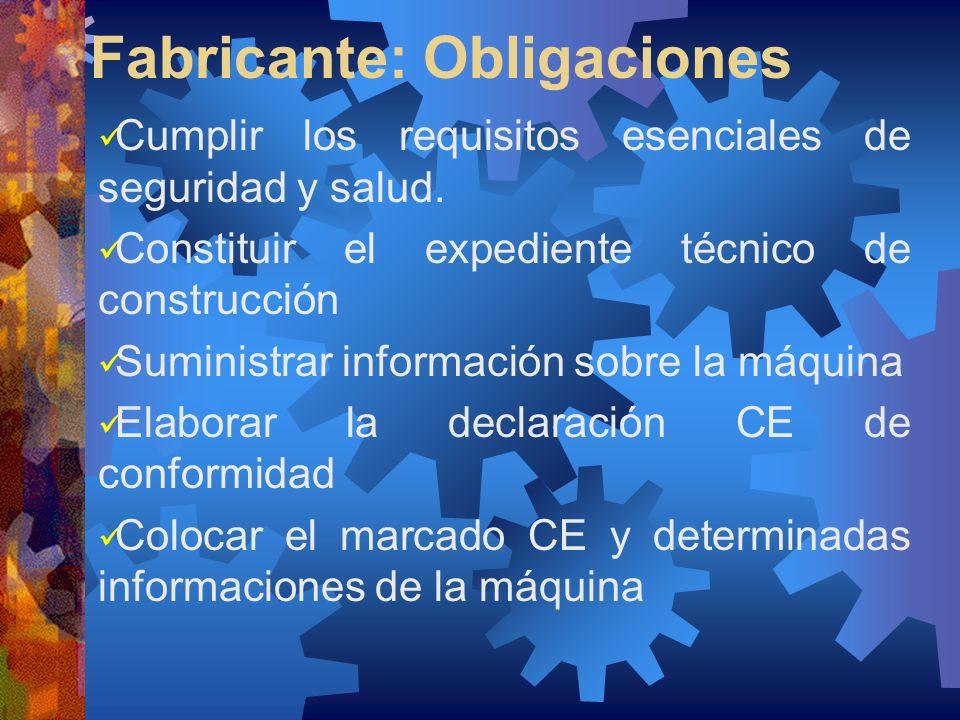 Fabricante: Obligaciones