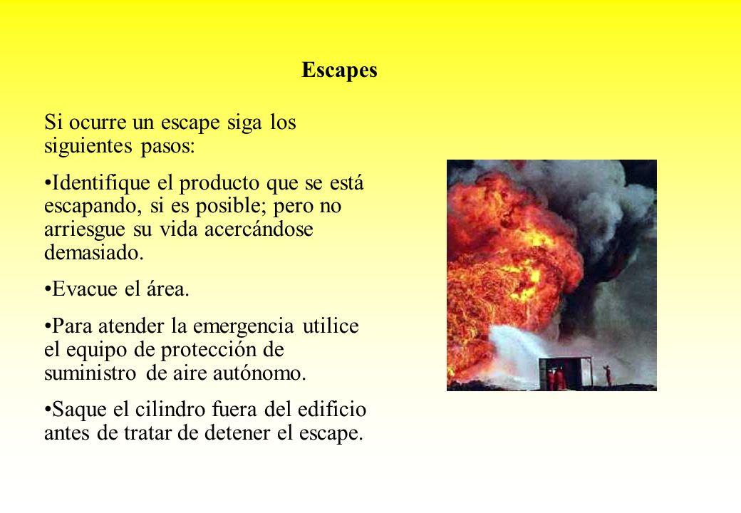 Escapes Si ocurre un escape siga los siguientes pasos: