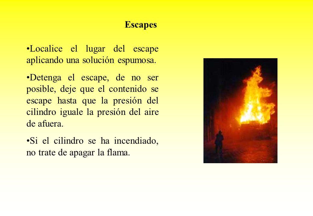 EscapesLocalice el lugar del escape aplicando una solución espumosa.