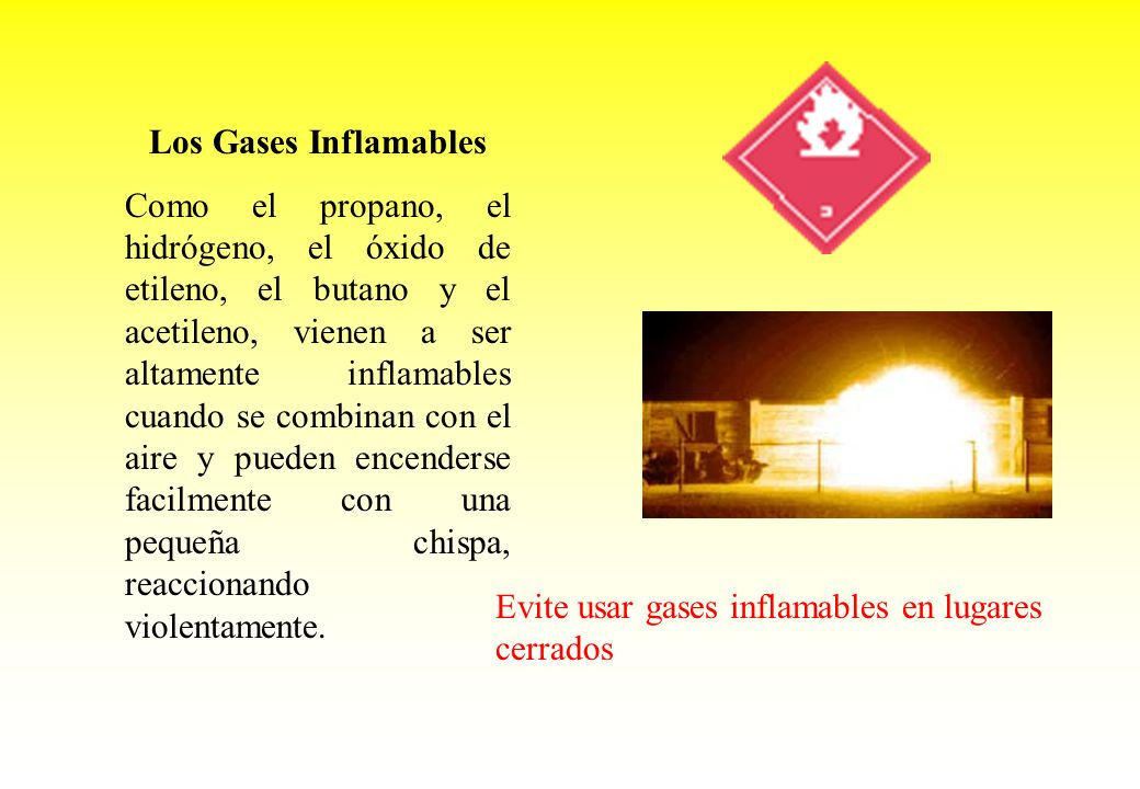 Los Gases Inflamables